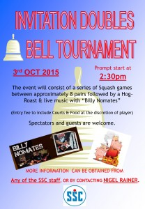 3RD OCTOBER - BELL TOURNAMENT